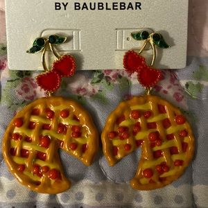 Baublebar Cherry 🍒 Pie earrings NWT 4 summer! 🍒